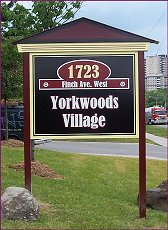 Address sign, Yorkwoods